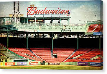 Gameday Ready At Fenway Canvas Print by Stephen Stookey