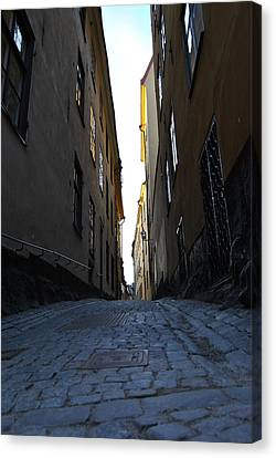 Gamla Stan Street Canvas Print by Frederico Borges