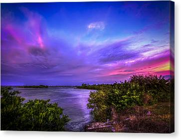 Gandy Lagoon 2 Canvas Print by Marvin Spates