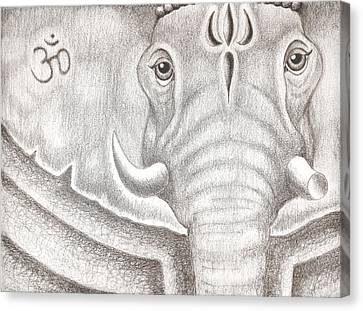 Ganesh Canvas Print by Adam Wood