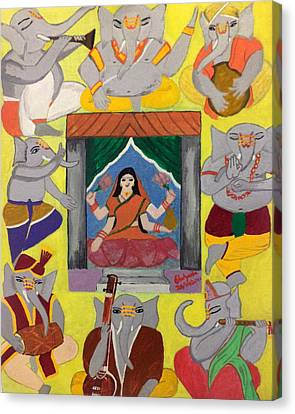 Ganesh Lakshmi Canvas Print by Pratyasha Nithin