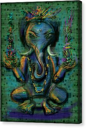 Ganesha Too Canvas Print by Russell Pierce