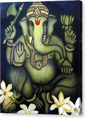Ganesha Canvas Print by Vishwajyoti Mohrhoff