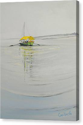 Ganga Dreaming Canvas Print by Caroline Cunningham