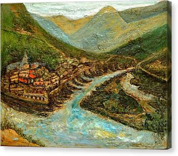 Ganga Sangam Canvas Print by Anand Swaroop Manchiraju
