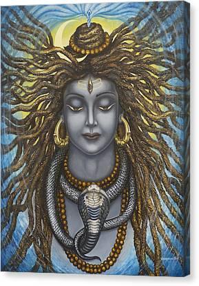 Gangadhara Shiva Canvas Print by Vrindavan Das