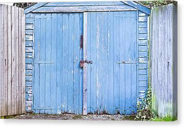 Garage Door Canvas Print by Tom Gowanlock