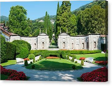 Garden At Villa Deste Hotel, Cernobbio Canvas Print by Panoramic Images