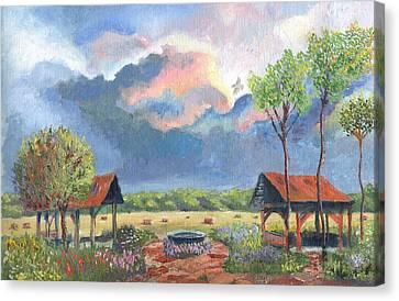 Garden Before The Storm Canvas Print by William Killen