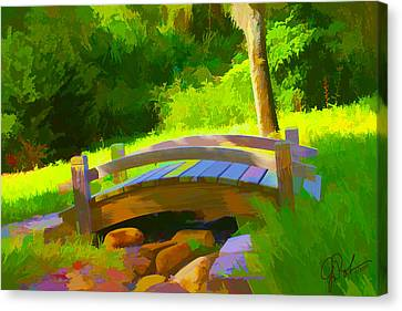 Garden Bridge Canvas Print by Gerry Robins
