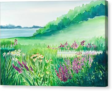 Garden By The Sea Canvas Print by Michelle Wiarda
