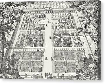 Garden Design From The Gardens Of Wilton Canvas Print by Isaac de Caus