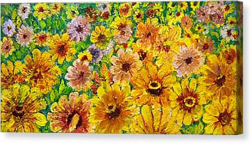 Garden Flowers Canvas Print by Don Thibodeaux