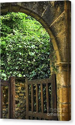 Garden Gate In Sarlat Canvas Print by Elena Elisseeva