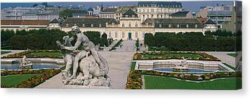 Garden In Front Of A Palace, Belvedere Canvas Print by Panoramic Images