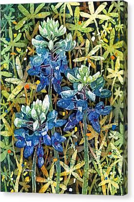 Garden Jewels II Canvas Print by Hailey E Herrera