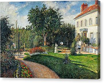 Garden Of Les Mathurins At Pontoise Canvas Print by Camille Pissarro
