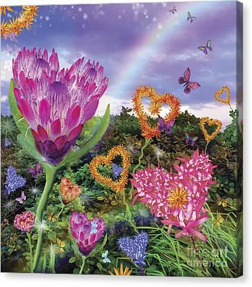 Garden Of Love 2 Canvas Print by Alixandra Mullins