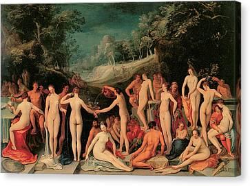 Garden Of Love Canvas Print by Karel Van Mander I