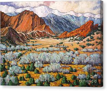 Garden Of The Gods Co Canvas Print by Vickie Fears