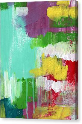 Garden Path- Abstract Expressionist Art Canvas Print by Linda Woods