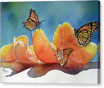Garden Picnic Canvas Print by Patricia Pushaw