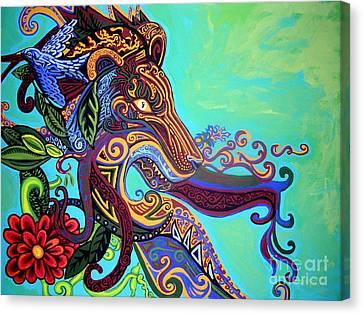 Gargoyle Lion 3 Canvas Print by Genevieve Esson