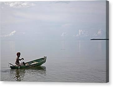 Garifuna Fisherman Canvas Print by Jim West