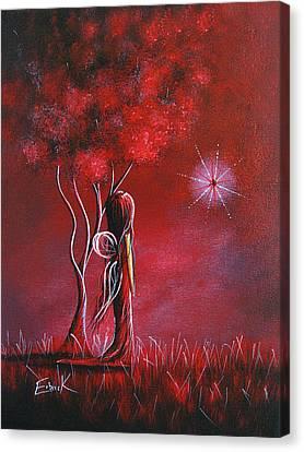 Garnet Fairy By Shawna Erback Canvas Print by Shawna Erback