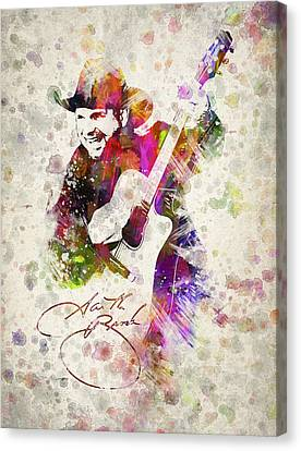 Garth Brooks Canvas Print by Aged Pixel