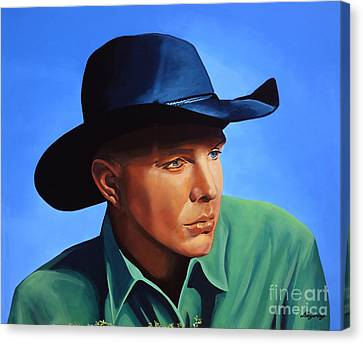 Garth Brooks Canvas Print by Paul Meijering