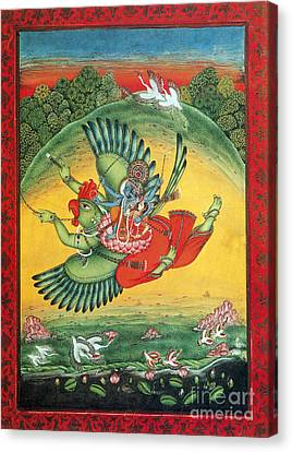 Garuda, The Vahana Of Lord Vishnu Canvas Print by Photo Researchers