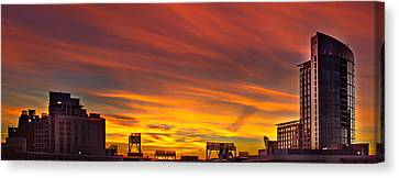 Gaslamp Sunrise Canvas Print by Russ Harris