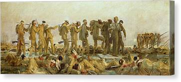 Gassed    An Oil Study Canvas Print by John Singer Sargent