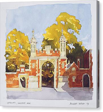 Gateway  Lincoln's Inn Canvas Print by Annabel Wilson