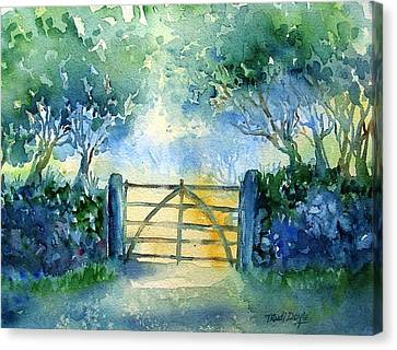 Gateway To The Harvest Field  Canvas Print by Trudi Doyle