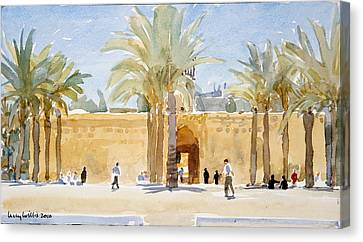 Gateway To The Mosque Canvas Print by Lucy Willis