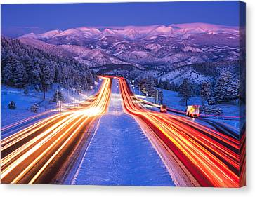 Gateway To The Rockies Canvas Print by Darren  White