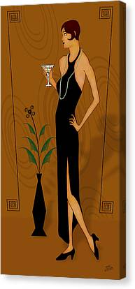 Gatsby Girl Canvas Print by Troy Brown