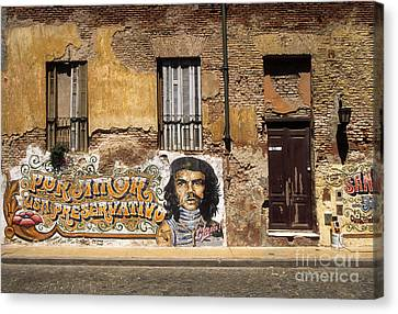 Gaucho Che Promotes Contraception Canvas Print by James Brunker