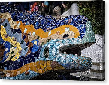 Gaudi Dragon Canvas Print by Joan Carroll