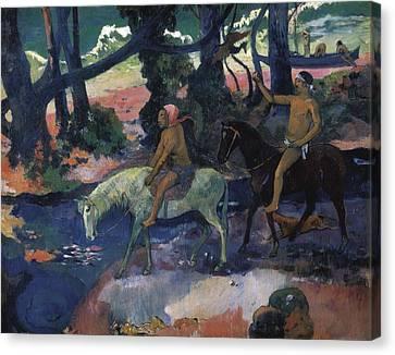 Gauguin, Paul 1848-1903. Ford Running Canvas Print by Everett