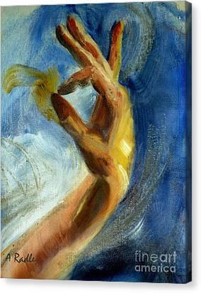 Gayan Canvas Print by Ann Radley