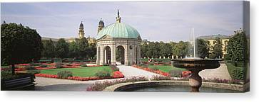 Gazebo In The Garden, Hofgarten Canvas Print by Panoramic Images