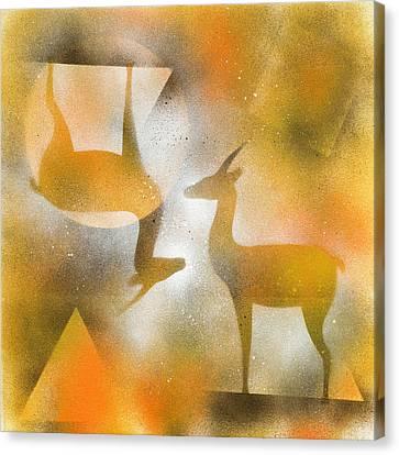 Gazelles Canvas Print by Hakon Soreide