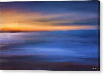 Gazing The Horizon Canvas Print by Lourry Legarde