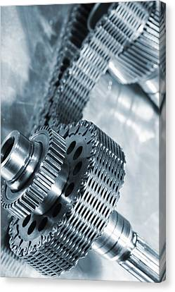Gears Axle Powered By Timing Chain Canvas Print by Christian Lagereek
