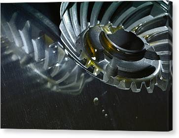 Gears Cogs And Oil Industry Canvas Print by Christian Lagereek