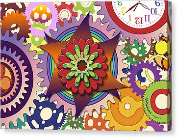 Gears Canvas Print by Gerry Robins