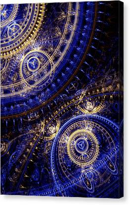 Gears Of Time Canvas Print by Martin Capek